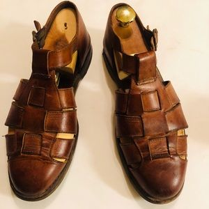 Cole Haan Country 9 1/2 Men Brown Leather Sandals